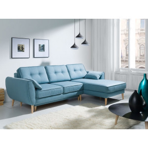 Candy Silver Corner Sofa Bed Fast Delivery