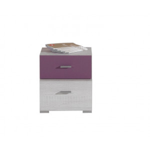 Next Bedside Table White Pine/ Grey Fast Delivery
