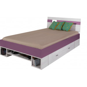 Next Bed 120x200 White Pine / Grey Fast Delivery