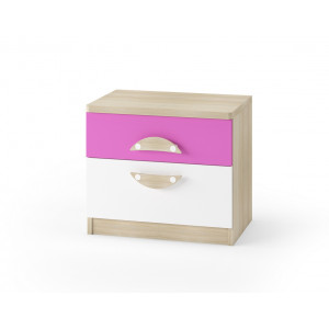 Nelson Bedside Table Pink