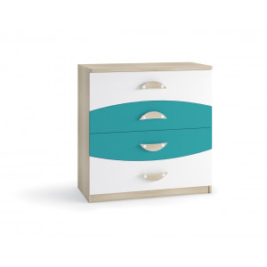 Nelson Chest of 4 drawers Blue