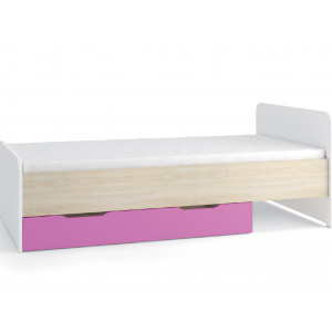 Nelson Single Bed with storage Pink
