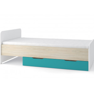 Nelson Single Bed with storage Blue