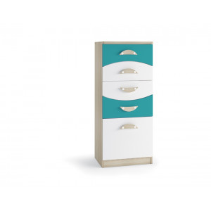 Nelson Chest of 5 drawers Blue