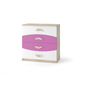 Nelson Chest of 4 drawers Pink