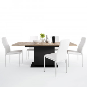 Brolo Extending Dining Table + 4 Chair White Fast Delivery