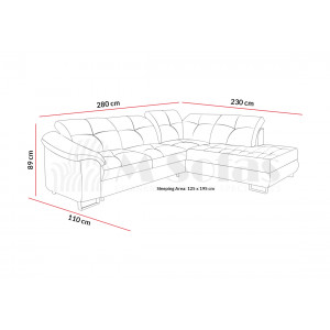 Ego Silver Corner Sofa Bed Fast Delivery