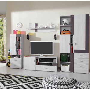 Next Bookcase 6 White Pine / Grey Fast Delivery