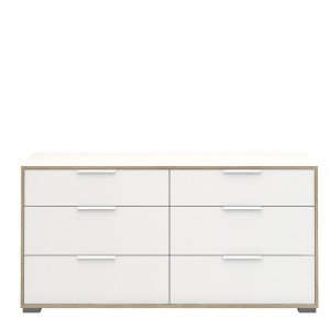 Line Wide Chest of 6 Drawers (3+3)
