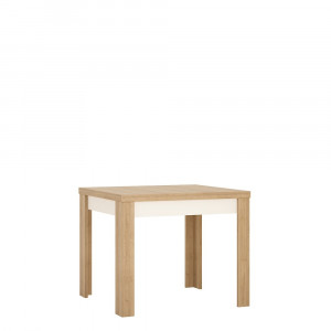 Lyon Small extending dining table 90/180cm in Riviera Oak/White High Gloss
