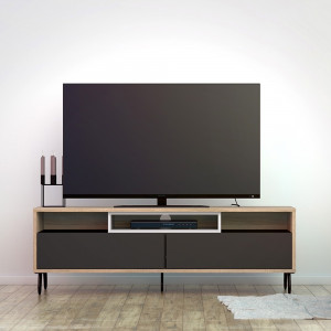 Match TV Unit 2 Drawers w/ Media Compartment