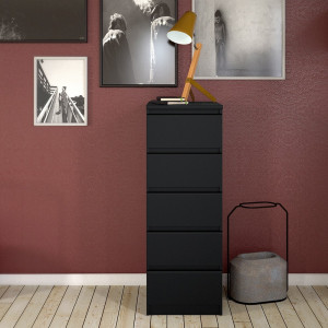 Naia Narrow Chest of 5 Drawers