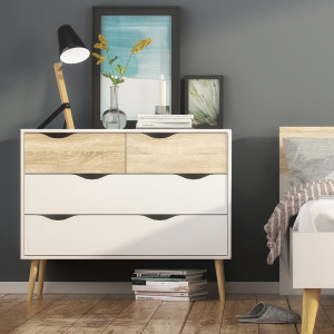 Oslo Chest of 4 Drawers (2+2)