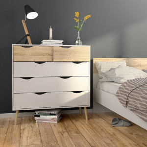 Oslo Chest of 5 Drawers (2+3)