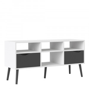 Oslo TV Unit - Wide - 2 Drawers 4 Shelves