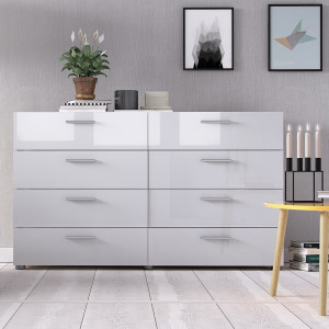 Pepe Wide Chest of 8 Drawers (4+4)