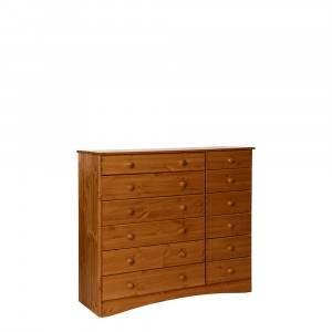 Scandi 6 + 6 Drawer Extra wide chest in Pine
