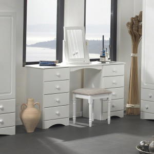 Scandi Double Dressing Table in White
