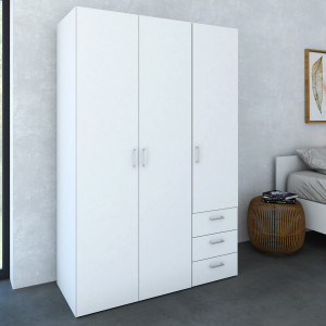 Space Wardrobe with 3 doors + 3 drawers 115