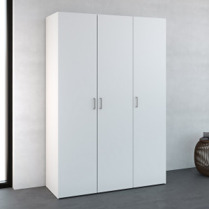 Space Wardrobe with 3 doors White 115